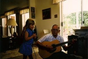 Me and Grandpa - 1998 - Weimar, TX