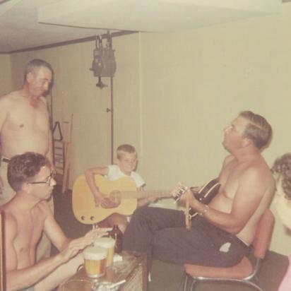 Uncle Bud, Grandpa Barney, Uncle Bo and Grandpa - 1964 - Lansing, Michigan