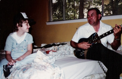 Cousin Kristi and Grandpa - 1981