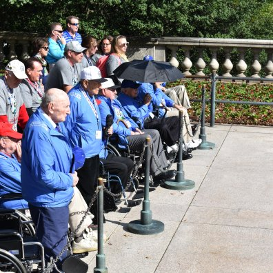 Veterans at the Tomb of the Unknown Soldier